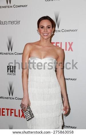 LOS ANGELES - JAN 11:  Keltie Knight at the The Weinstein Company / Netflix Golden Globes After Party at a Beverly Hilton Adjacent on January 11, 2015 in Beverly Hills, CA - stock photo