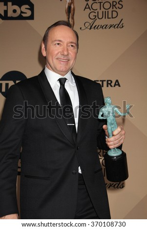 LOS ANGELES - JAN 30:  Kevin Spacey at the 22nd Screen Actors Guild Awards at the Shrine Auditorium on January 30, 2016 in Los Angeles, CA - stock photo