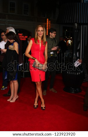 LOS ANGELES - JAN 7:  Kim Raver arrives at the 'Gangster Squad' Premiere at Graumans Chinese Theater on January 7, 2013 in Los Angeles, CA - stock photo