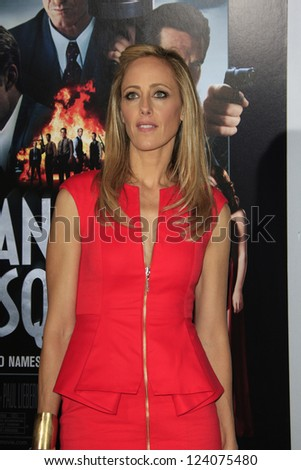 LOS ANGELES - JAN 7: Kim Raver at Warner Bros. Pictures' 'Gangster Squad' premiere at Grauman's Chinese Theater on January 7, 2013 in Los Angeles, California - stock photo