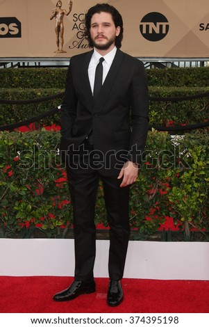 LOS ANGELES - JAN 30:  Kit Harrington at the 22nd Screen Actors Guild Awards at the Shrine Auditorium on January 30, 2016 in Los Angeles, CA - stock photo