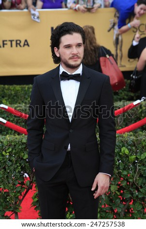 LOS ANGELES - JAN 25:  Kit Harrington at the 2015 Screen Actor Guild Awards at the Shrine Auditorium on January 25, 2015 in Los Angeles, CA - stock photo