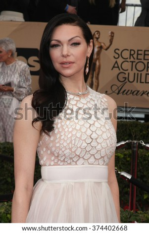 LOS ANGELES - JAN 30:  Laura Prepon at the 22nd Screen Actors Guild Awards at the Shrine Auditorium on January 30, 2016 in Los Angeles, CA - stock photo