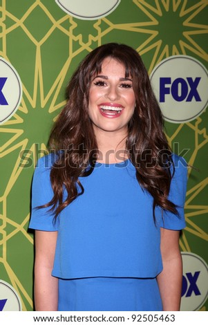 LOS ANGELES - JAN 8:  Lea Michele arrives at the Fox TCA Party - Winter 2012 at Castle Green on January 8, 2012 in Pasadena, CA