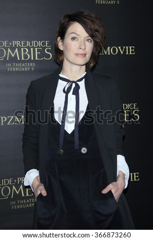 LOS ANGELES - JAN 21:  Lena Headey at the Pride And Prejudice And Zombies Premiere at the Harmony Gold Theatre on January 21, 2016 in Los Angeles, CA - stock photo