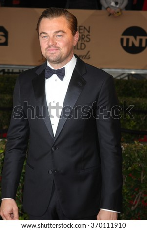 LOS ANGELES - JAN 30:  Leonardo DiCaprio at the 22nd Screen Actors Guild Awards at the Shrine Auditorium on January 30, 2016 in Los Angeles, CA - stock photo