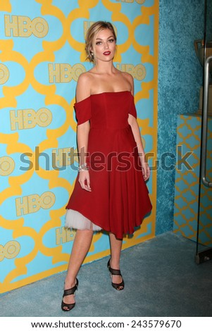 LOS ANGELES - JAN 11:  Lili Simmons at the HBO Post Golden Globe Party at a Circa 55, Beverly Hilton Hotel on January 11, 2015 in Beverly Hills, CA - stock photo