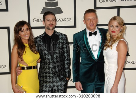 LOS ANGELES - JAN 26:  Macklemore arrives at the 56th Annual Grammy Awards Arrivals  on January 26, 2014 in Los Angeles, CA                 - stock photo