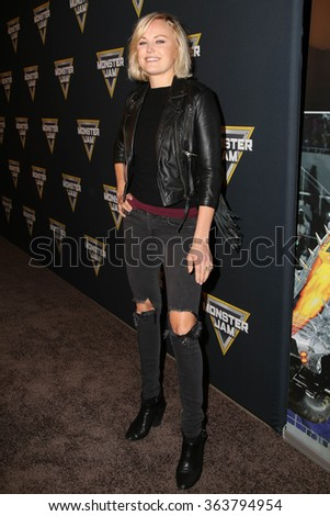LOS ANGELES - JAN 16:  Malin Akerman at the Monster Jam Celebrity Night at the Angels Stadium on January 16, 2016 in Anaheim, CA - stock photo