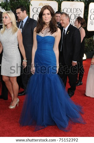 LOS ANGELES - JAN 16:  Mandy Moore arrives to the 68th Annual Golden Globe Awards  on January 16, 2011 in Beverly Hills, CA
