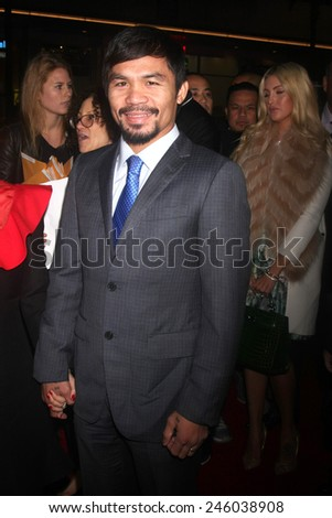 "LOS ANGELES - JAN 20:  Manny Pacquiao at the ""Manny"" Los Angeles Premiere at a TCL Chinese Theater on January 20, 2015 in Los Angeles, CA"
