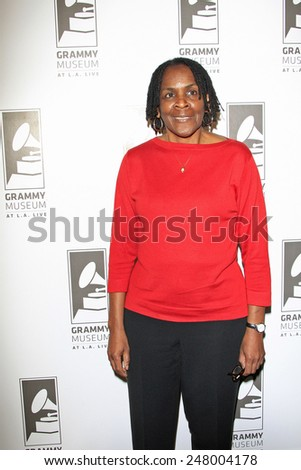 LOS ANGELES - JAN 28: Marcia Thomas at the 30th Anniversary of 'We Are The World' at The GRAMMY Museum on January 28, 2015 in Los Angeles, California - stock photo