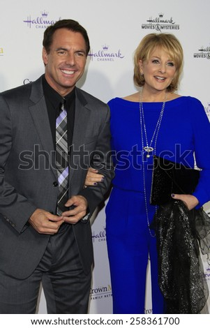 LOS ANGELES - JAN 8: Mark Steines, Cristina Ferrare at the TCA Winter 2015 Event For Hallmark Channel and Hallmark Movies & Mysteries at Tournament House on January 8, 2015 in Pasadena, CA - stock photo