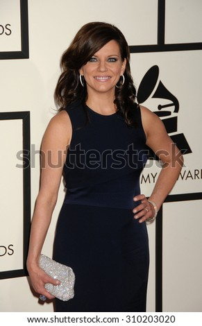 LOS ANGELES - JAN 26:  Martina McBride arrives at the 56th Annual Grammy Awards Arrivals  on January 26, 2014 in Los Angeles, CA                 - stock photo