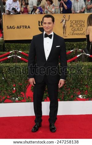 LOS ANGELES - JAN 25:  Matt McGorry at the 2015 Screen Actor Guild Awards at the Shrine Auditorium on January 25, 2015 in Los Angeles, CA - stock photo