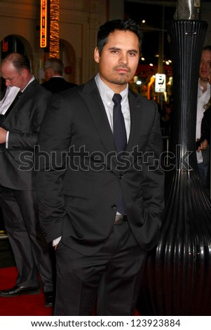 LOS ANGELES - JAN 7:  Michael Pena arrives at the 'Gangster Squad' Premiere at Graumans Chinese Theater on January 7, 2013 in Los Angeles, CA - stock photo