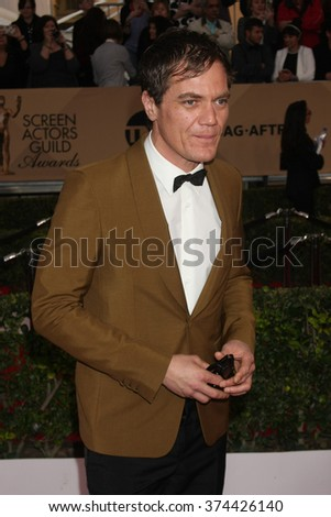 LOS ANGELES - JAN 30:  Michael Shannon at the 22nd Screen Actors Guild Awards at the Shrine Auditorium on January 30, 2016 in Los Angeles, CA - stock photo