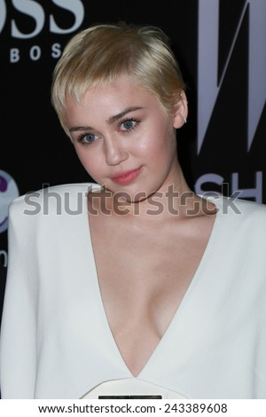 LOS ANGELES - JAN 9:  Miley Cyrus at the W Magazine`s Shooting Stars Exhibit at the Old May Company Building on January 9, 2015 in Los Angeles, CA - stock photo