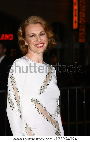 LOS ANGELES - JAN 7:  Mireille Enos arrives at the 'Gangster Squad' Premiere at Graumans Chinese Theater on January 7, 2013 in Los Angeles, CA - stock photo