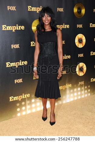 """LOS ANGELES - JAN 06:  Naomi Campbell arrives to the """"Empire"""" Los Angeles Premiere  on January 6, 2015 in Hollywood, CA                 - stock photo"""