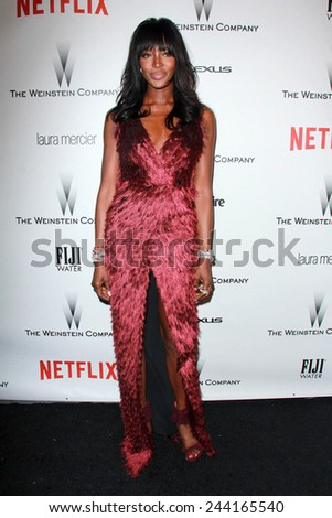 LOS ANGELES - JAN 11:  Naomi Campbell at the The Weinstein Company / Netflix Golden Globes After Party at a Beverly Hilton Adjacent on January 11, 2015 in Beverly Hills, CA - stock photo