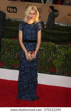 LOS ANGELES - JAN 30:  Naomi Watts at the 22nd Screen Actors Guild Awards at the Shrine Auditorium on January 30, 2016 in Los Angeles, CA - stock photo