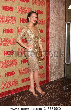 LOS ANGELES - JAN 12:  Nathalie Emmanuel at the HBO 2014 Golden Globe Party at the Beverly Hilton Hotel on January 12, 2014 in Beverly Hills, CA - stock photo