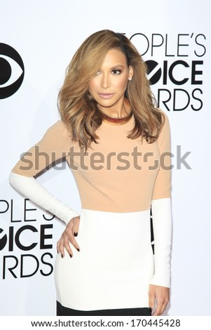 LOS ANGELES - JAN 8:  Naya Rivera at the People's Choice Awards 2014 Arrivals at Nokia Theater at LA LIve on January 8, 2014 in Los Angeles, CA - stock photo