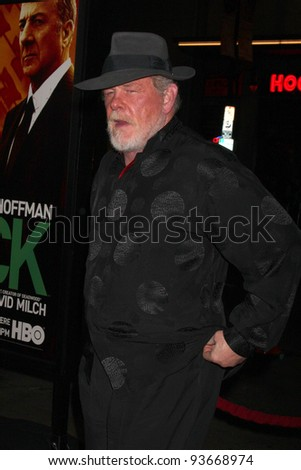 "LOS ANGELES - JAN 25:  Nick Nolte arrives at  the ""Luck"" Los Angeles Premiere of HBO Series at Graumans Chinese Theater on January 25, 2012 in Los Angeles, CA"