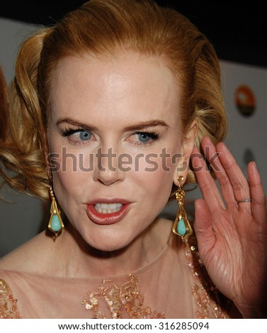 LOS ANGELES - JAN 12 - Nicole Kidman arrives at the 2013 GDay USA Los Angeles Black Tie Gala  on January 12, 2013 in Los Angeles, CA              - stock photo