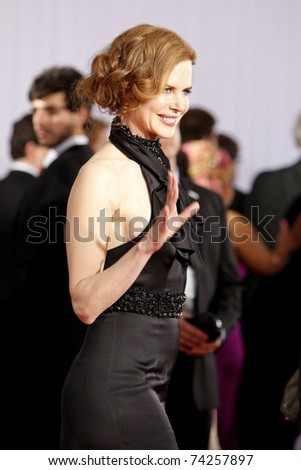 LOS ANGELES - JAN 31:  Nicole Kidman arriving at the 52nd Annual GRAMMY Awards held at Staples Center in Los Angeles, California on January 31, 2010.