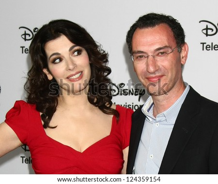 LOS ANGELES - JAN 10:  Nigella Lawson, Paul Lee attends the ABC TCA Winter 2013 Party at Langham Huntington Hotel on January 10, 2013 in Pasadena, CA - stock photo