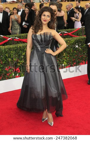 LOS ANGELES - JAN 25:  Nimrat Kaur at the 2015 Screen Actor Guild Awards at the Shrine Auditorium on January 25, 2015 in Los Angeles, CA - stock photo