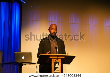 LOS ANGELES - JAN 28: Ntare Guma Mbaho Mwine at the 30th Anniversary of 'We Are The World' at The GRAMMY Museum on January 28, 2015 in Los Angeles, California - stock photo