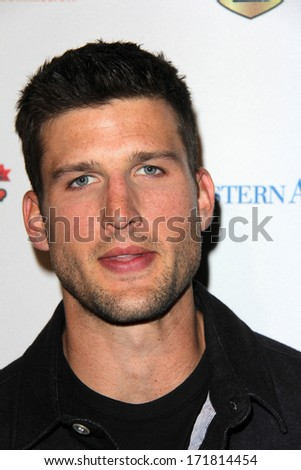 LOS ANGELES - JAN 5:  Parker Young at the BCS National Championship Party at Pasadena Convention Center on January 5, 2014 in Pasadena, CA - stock photo