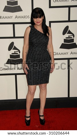 LOS ANGELES - JAN 26:  Pauley Perrette arrives at the 56th Annual Grammy Awards Arrivals  on January 26, 2014 in Los Angeles, CA                 - stock photo