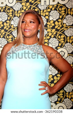 LOS ANGELES - JAN 10:  Queen Latifah, Dana Owens at the HBO Golden Globes After Party 2016 at the Beverly Hilton on January 10, 2016 in Beverly Hills, CA - stock photo