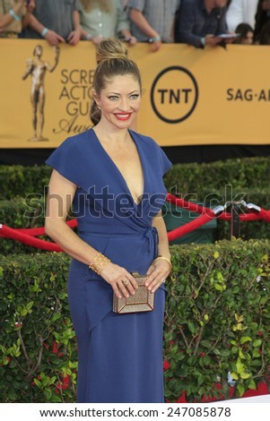 LOS ANGELES - JAN 25:  Rebecca Gayheart at the 2015 Screen Actor Guild Awards at the Shrine Auditorium on January 25, 2015 in Los Angeles, CA - stock photo