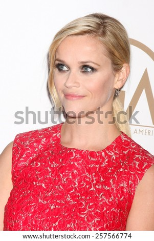 LOS ANGELES - JAN 24:  Reese Witherspoon at the Producers Guild of America Awards 2015 at a Century Plaza Hotel on January 24, 2015 in Century City, CA - stock photo