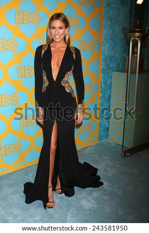 LOS ANGELES - JAN 11:  Renee Bargh at the HBO Post Golden Globe Party at a Circa 55, Beverly Hilton Hotel on January 11, 2015 in Beverly Hills, CA - stock photo