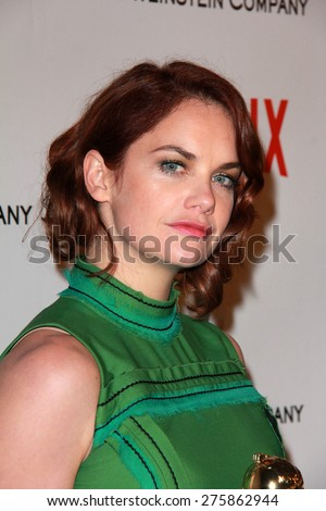 LOS ANGELES - JAN 11:  Ruth Wilson at the The Weinstein Company / Netflix Golden Globes After Party at a Beverly Hilton Adjacent on January 11, 2015 in Beverly Hills, CA - stock photo