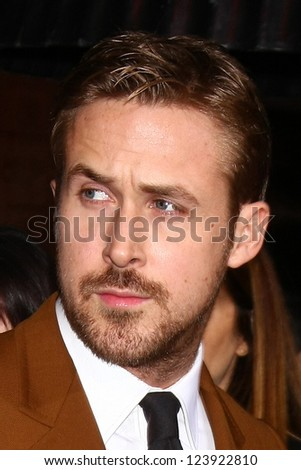 LOS ANGELES - JAN 7:  Ryan Gosling arrives at the 'Gangster Squad' Premiere at Graumans Chinese Theater on January 7, 2013 in Los Angeles, CA - stock photo