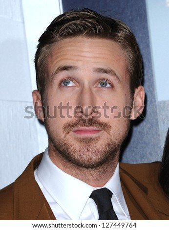 "LOS ANGELES - JAN 7:  Ryan Gosling arrives to the ""Gangster Squad"" Los Angeles Premiere  on January 07, 2013 in Hollywood, CA - stock photo"