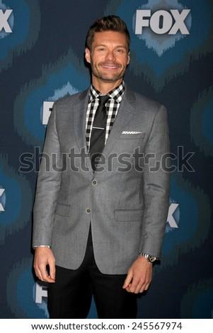 LOS ANGELES - JAN 17:  Ryan Seacrest at the FOX TCA Winter 2015 at a The Langham Huntington Hotel on January 17, 2015 in Pasadena, CA - stock photo