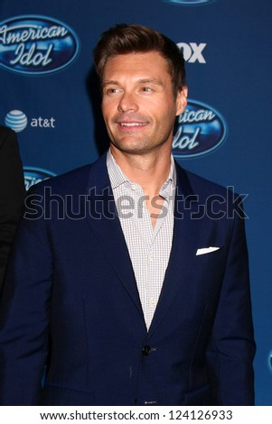 LOS ANGELES - JAN 9:  Ryan Seacrest attends the 'American Idol' Premiere Event at Royce Hall, UCLA on January 9, 2013 in Westwood, CA