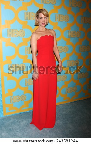 LOS ANGELES - JAN 11:  Sarah Paulson at the HBO Post Golden Globe Party at a Circa 55, Beverly Hilton Hotel on January 11, 2015 in Beverly Hills, CA - stock photo