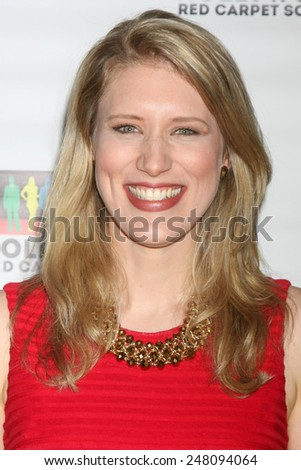 LOS ANGELES - JAN 17:  Sarah Toth at the Hollywood Red Carpet School at Secret Rose Theater on January 17, 2015 in Studio City, CA - stock photo