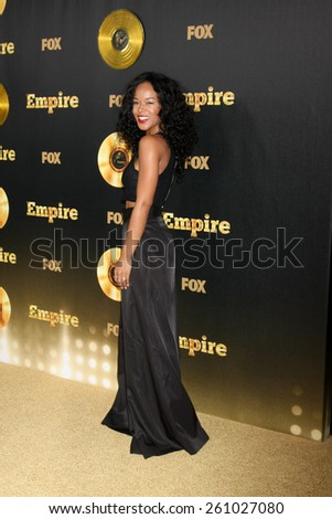 "LOS ANGELES - JAN 6:  Serayah McNeil at the FOX TV ""Empire"" Premiere Event at a ArcLight Cinerama Dome Theater on January 6, 2014 in Los Angeles, CA - stock photo"