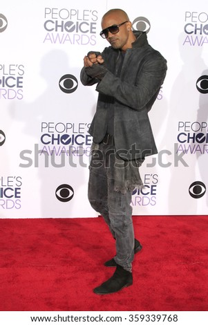LOS ANGELES - JAN 6:  Shemar Moore at the Peoples Choice Awards 2016 - Arrivals at the Microsoft Theatre L.A. Live on January 6, 2016 in Los Angeles, CA - stock photo