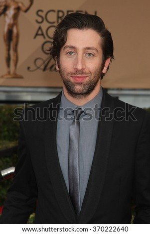 LOS ANGELES - JAN 30:  Simon Helberg at the 22nd Screen Actors Guild Awards at the Shrine Auditorium on January 30, 2016 in Los Angeles, CA - stock photo